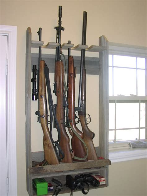 Wood - Vertical Gun Rack Plans Free | How To build an Easy